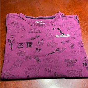 LBJ Nike t shirt size L